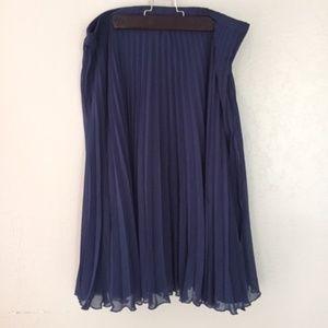 New White House Black Market Navy blue Skirt
